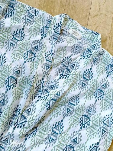 Block-Print Ikat Robe