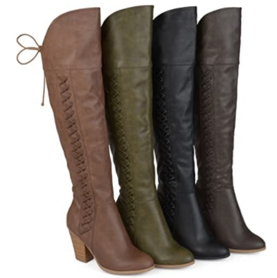 Brinley Co. Lace-Up Over-The-Knee Boots