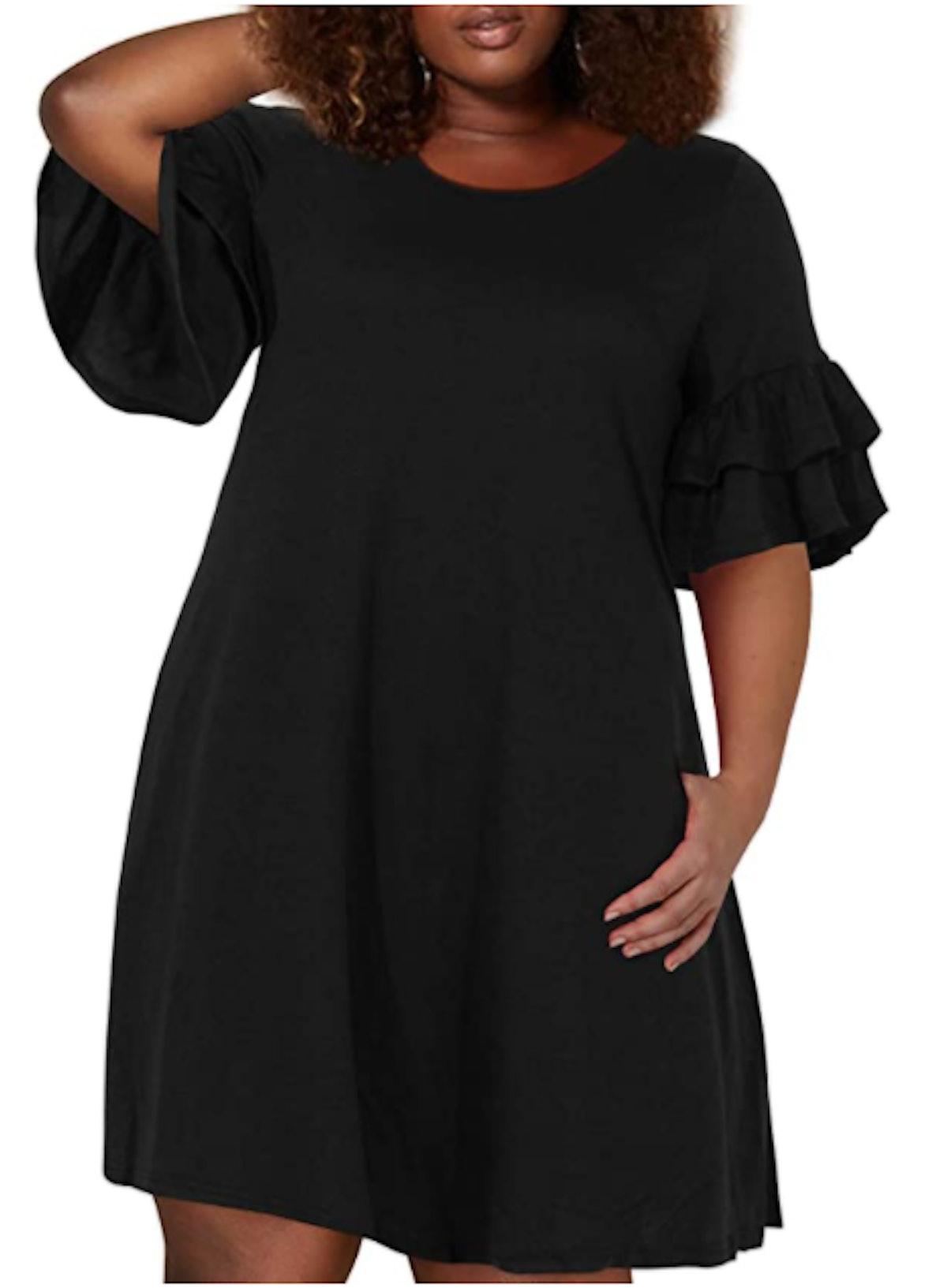 Nemidor Plus Size Jersey Knit Swing Dress