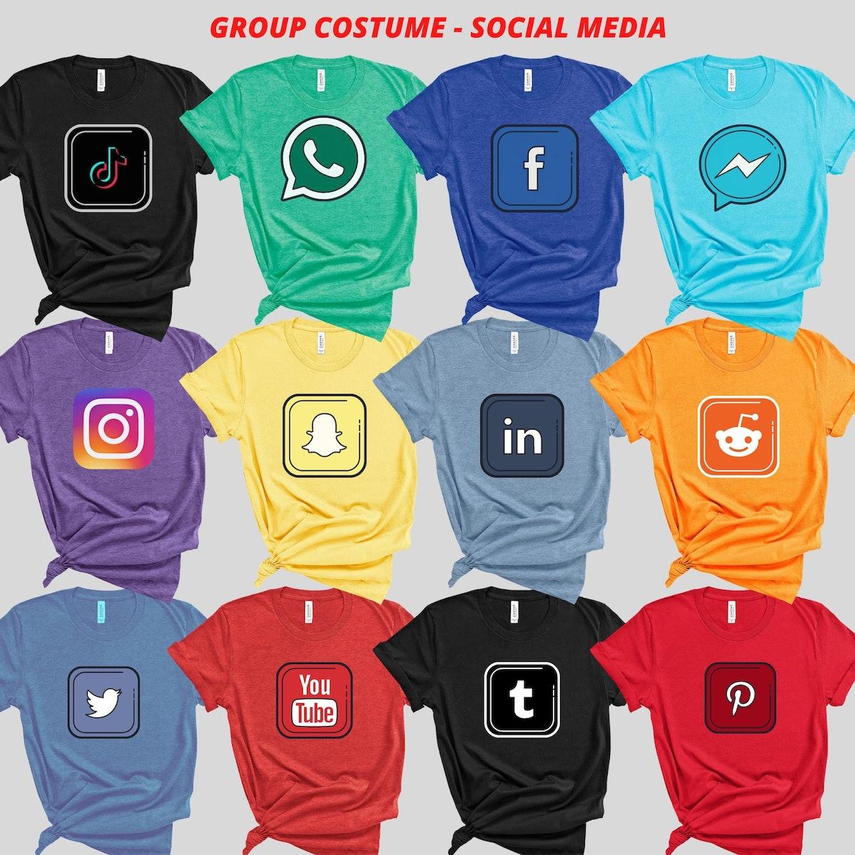 Group Costume, Social Media