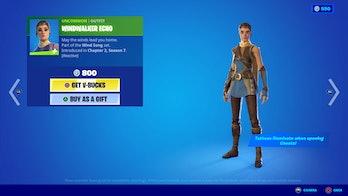 fortnite windwalker echo skin price