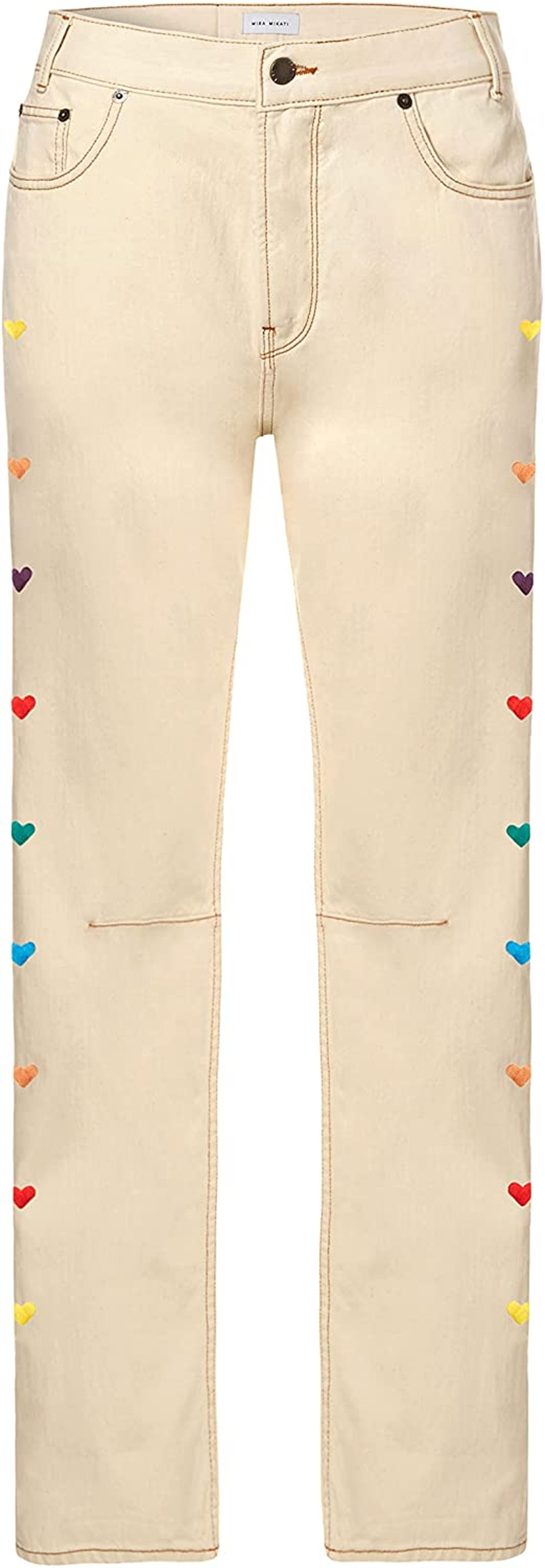Heart Embroidered Jeans