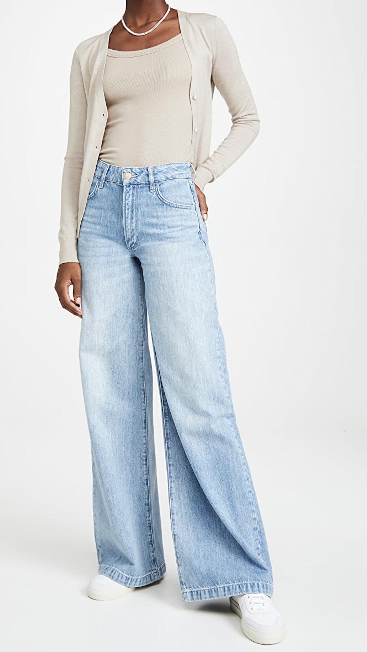 Women's High Rise Wide Leg Jeans