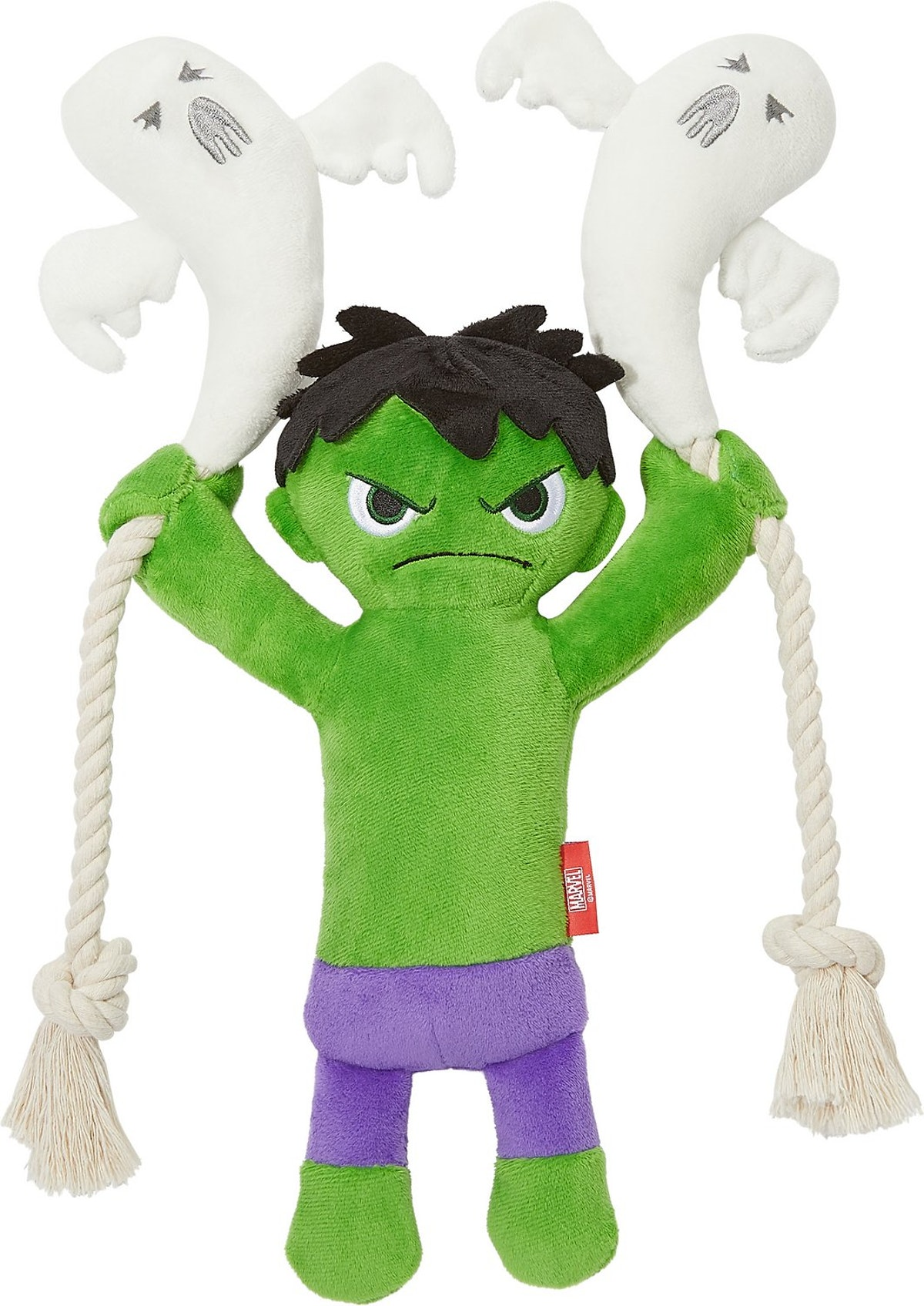 This Hulk from Marvel dog toy is part of Chewy's Disney Halloween toy collection.
