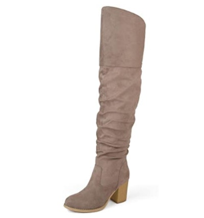 Brinley Co. Ruched Over-the-Knee Boots
