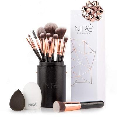 Niré Beauty Professional Makeup Brush Set (15 Pieces)