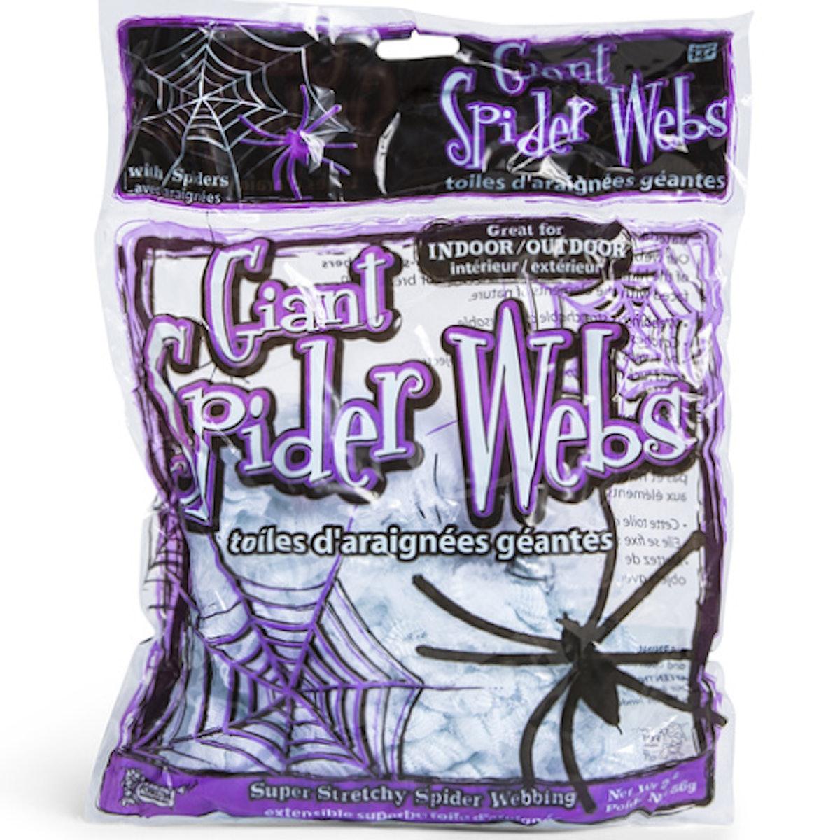 Giant White Spider Web Decoration