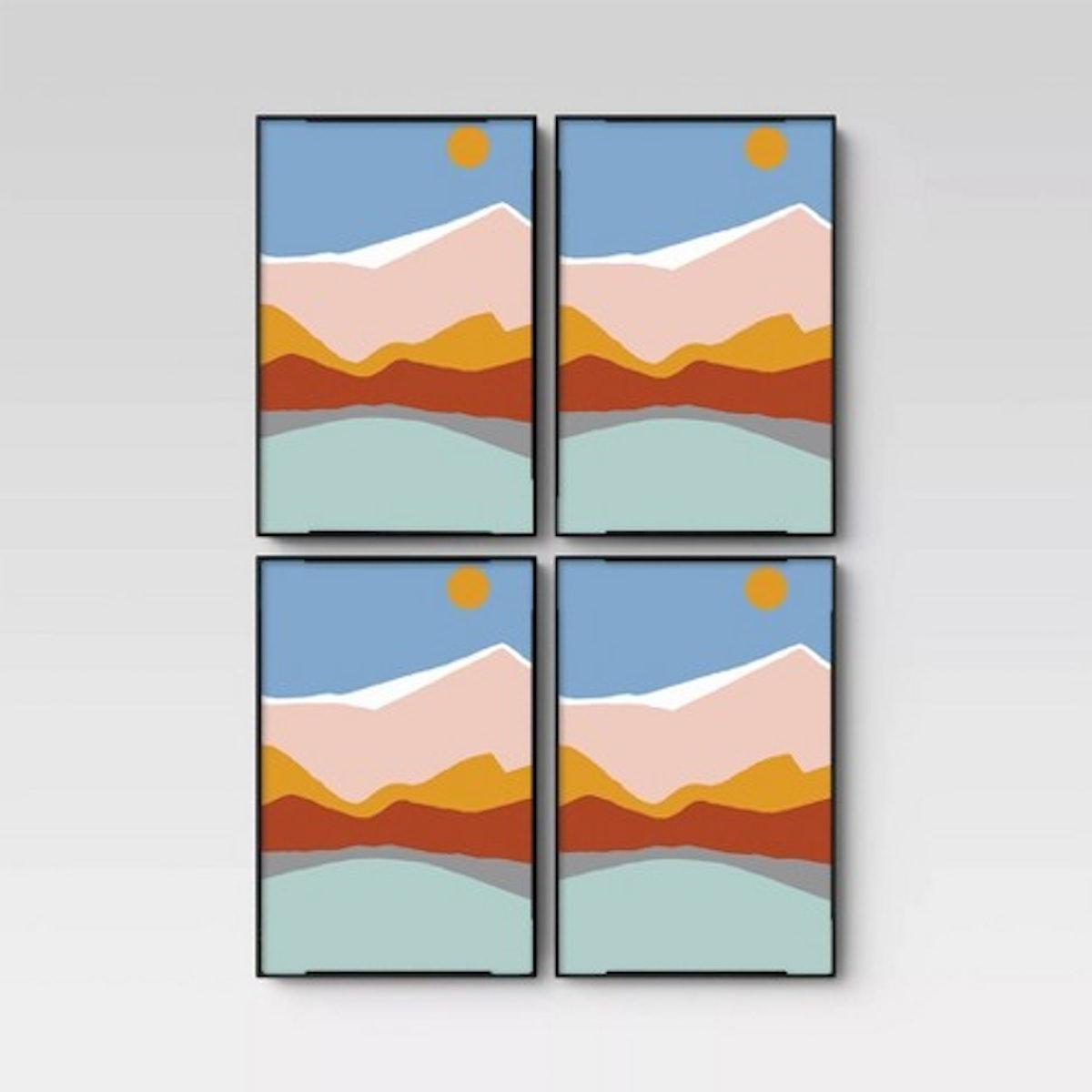 """4"""" X 6"""" Set of 4 Format Frames Black"""