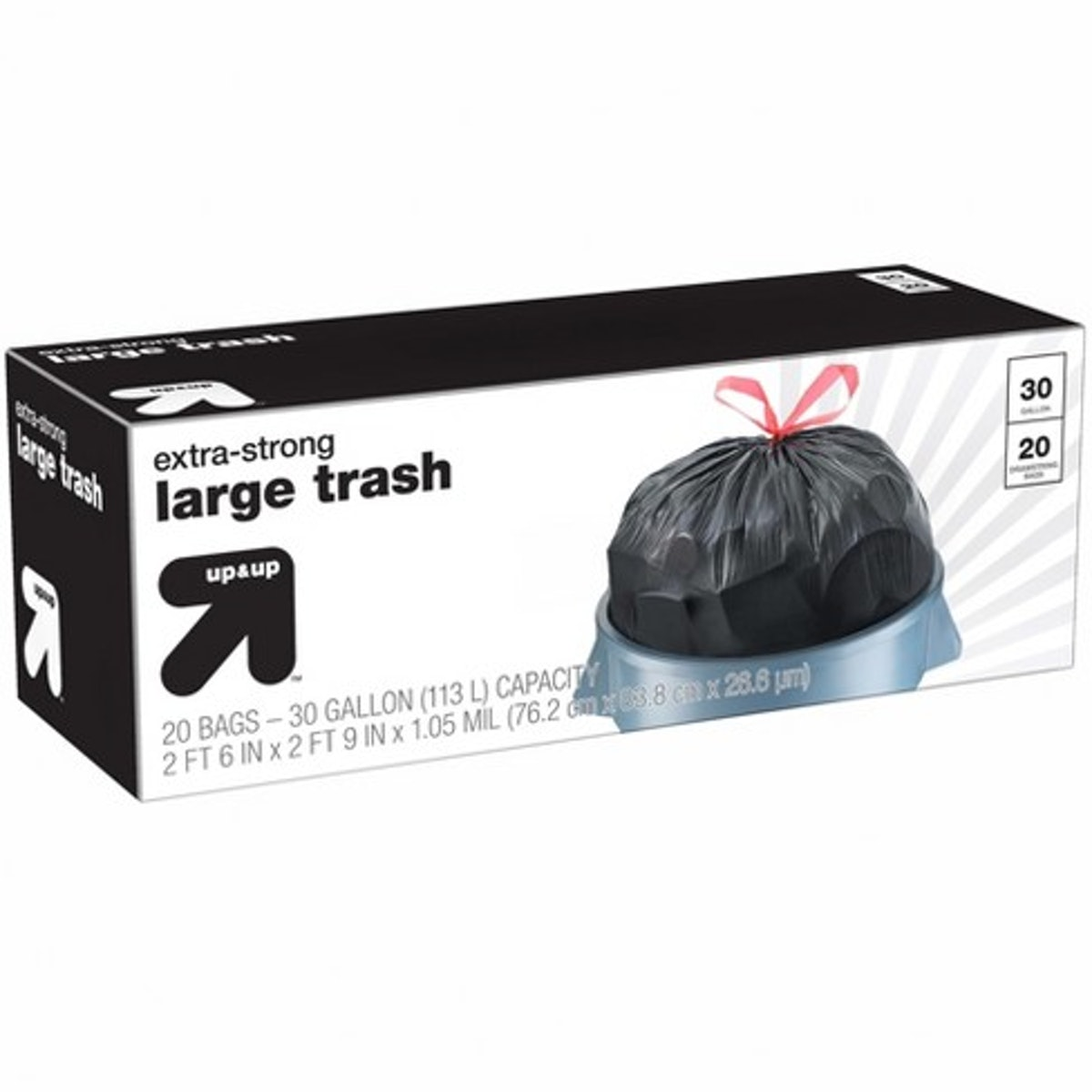 Extra-Strong Large Drawstring Trash Bags