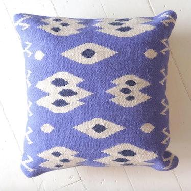 Ikat Eye Dhurrie Pillow