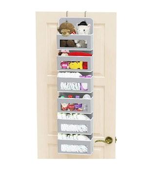 Simple Houseware Over Door Clear Window Pocket Organizer
