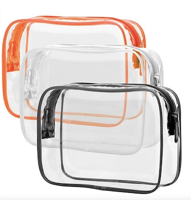 PACKISM Clear Toiletry Bag (3-Pack)