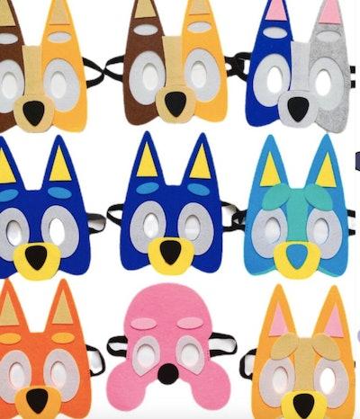 10-piece Bluey mask set