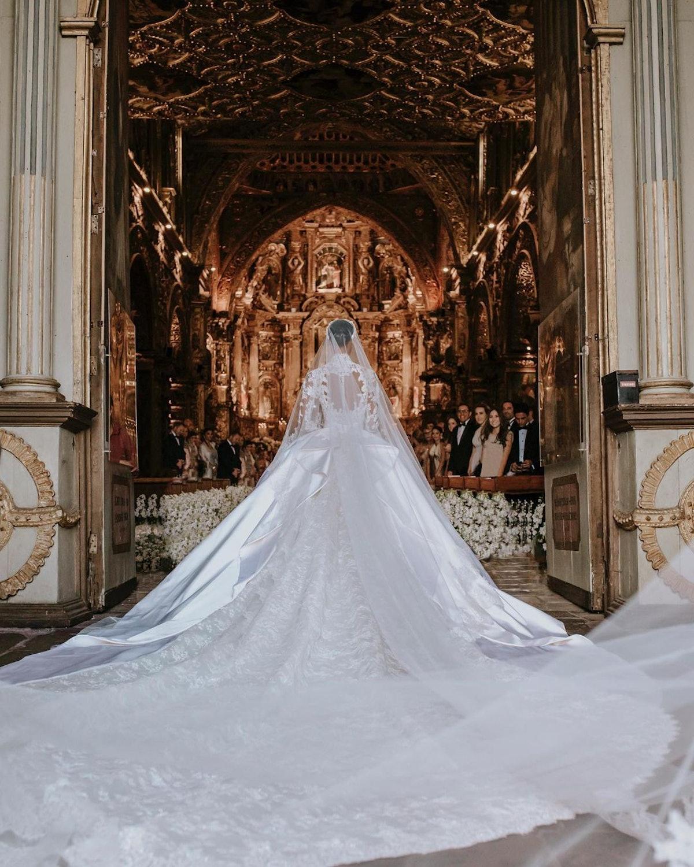 Jasmine Tookes and Juan David Borrero at their wedding