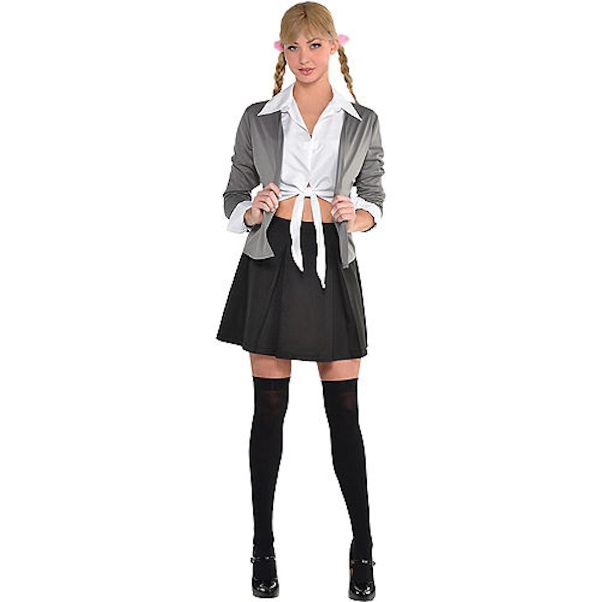 Adult 90's School Girl Costume Accessory Kit