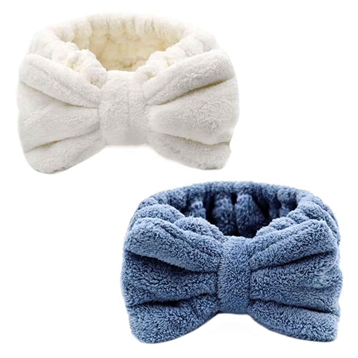 GAASHA Plush Spa Bow Headband (2-Pack)