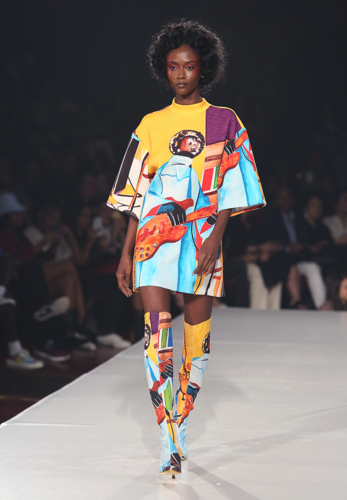 A model walks the runway during Sister The 3rd Collection by Pyer Moss as part of New York Fashion W...