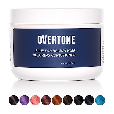 oVertone Haircare Blue for Brown Hair Deep Coloring Conditioner