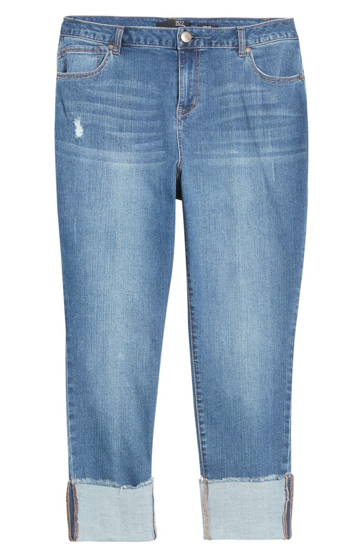 Deep Roll Cuff Jeans from 1822 Denim, available to shop via Nordstrom.