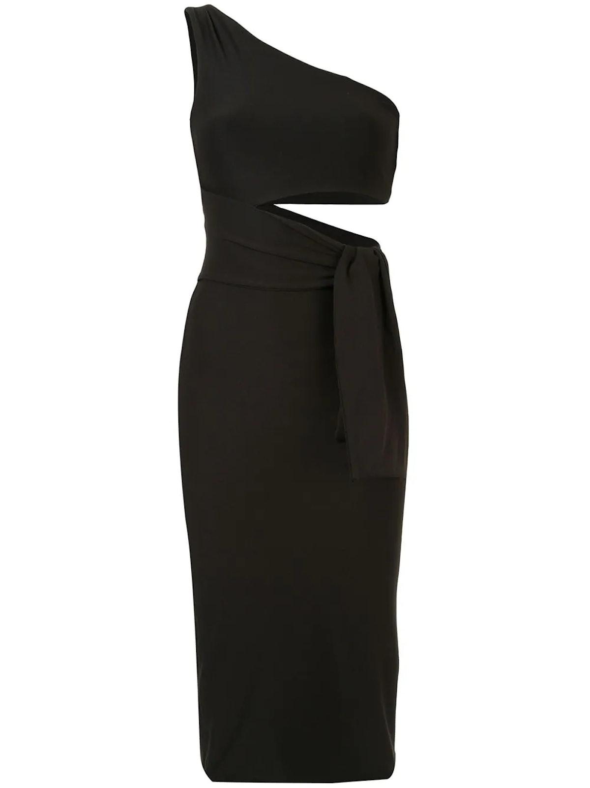 ALIX NYC's black Watson dress with a cutout.