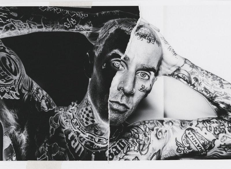 Travis Barker portrait in Nylon.