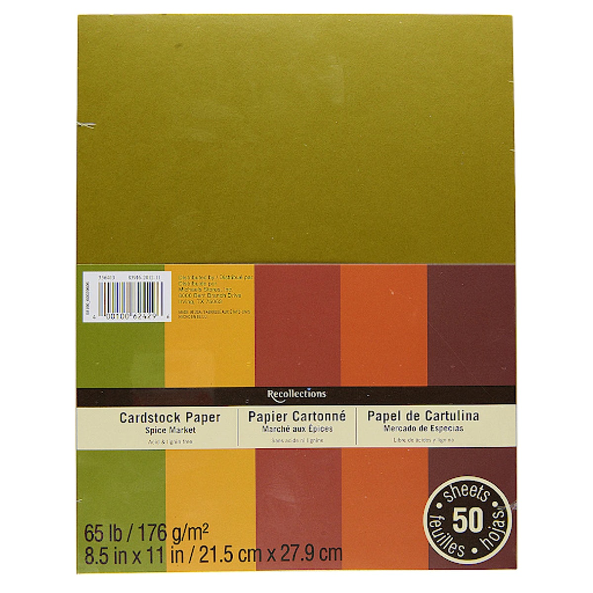"""Spice Market 8.5"""" x 11"""" Cardstock Paper by Recollections"""