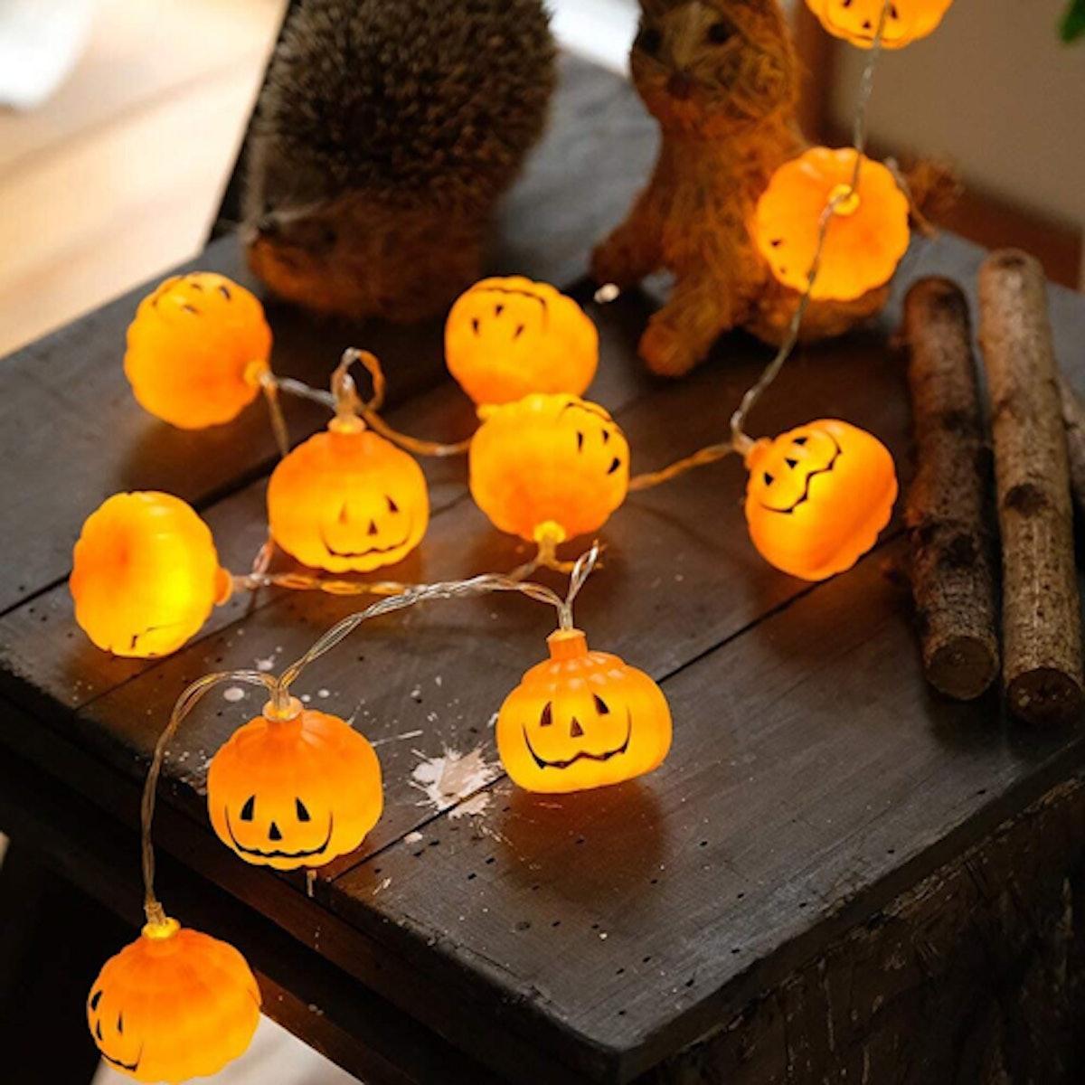 Halloween Set Cotton Ball String Lights