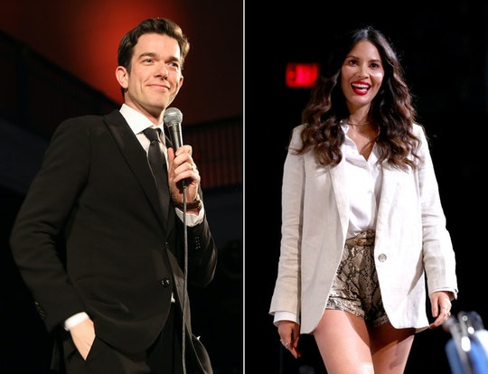 John Mulaney revealed he and actress Olivia Munn are expecting their first child together during an ...