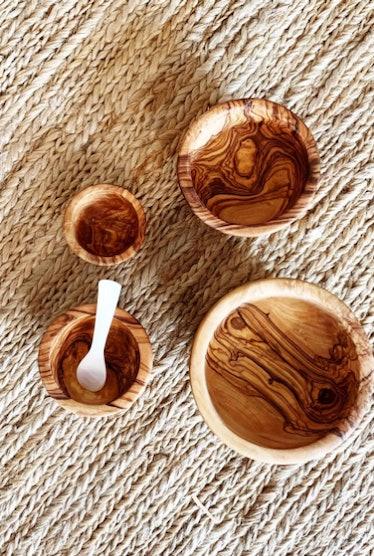 Wood Nesting Bowl Set