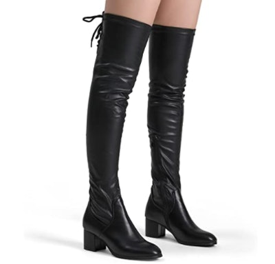 DREAM PAIRS Over-The-Knee Chunky Heel Boots