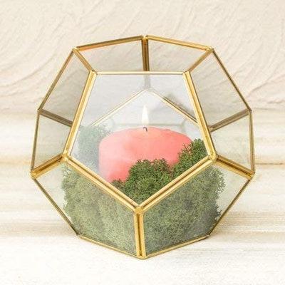 Banord Golden Geometric Terrarium