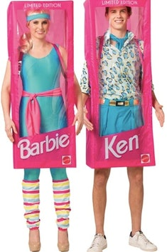 man and woman in barbie and ken costumes