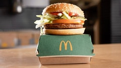 McDonald's vegan McPlant burger