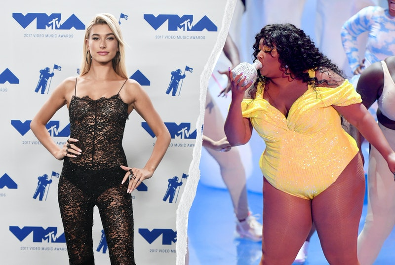 See the 10 best '90s-inspired VMAs red carpet outfits so far, from Hailey Bieber's lace catsuit to L...
