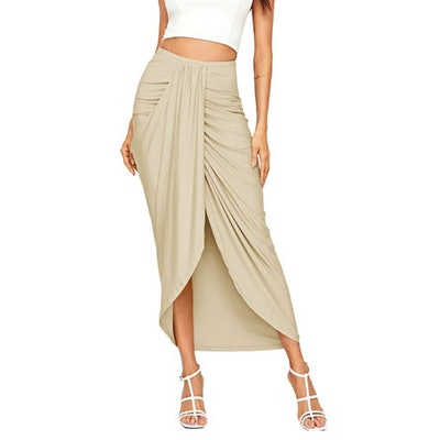 SheIn Asymmetrical Draped Skirt