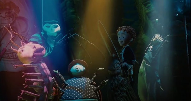James and the Giant Peach is based on the book by Roald Dahl.