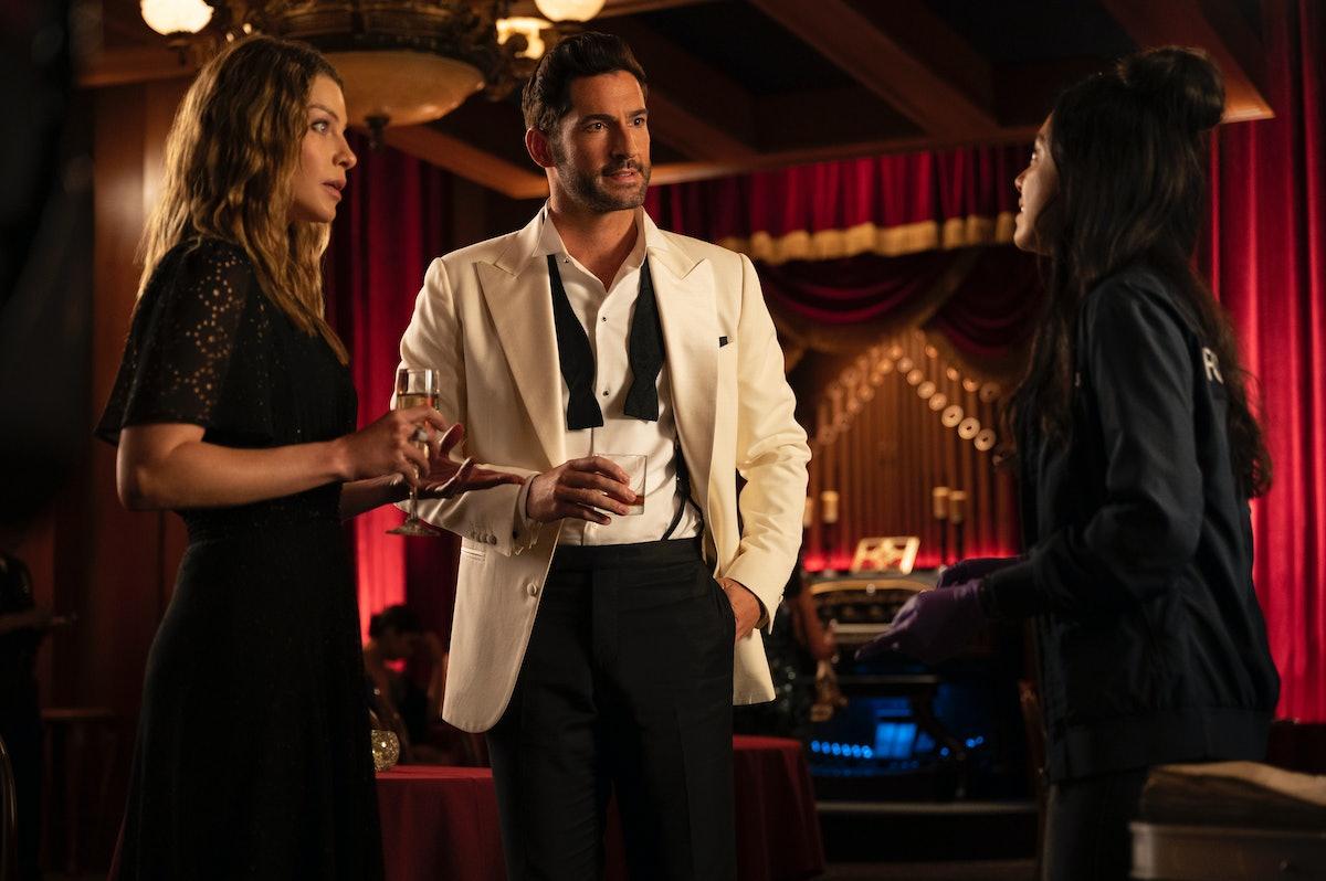 Tom Ellis as Lucifer and Lauren German as Chloe in Season 6 of Netflix's 'Lucifer'