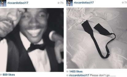 Screenshots from Riccardo Tisci's Instagram after the 2013 Met Gala.