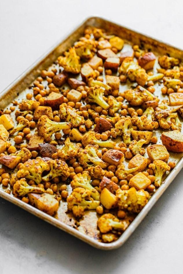 sheet pan roasted cauliflower