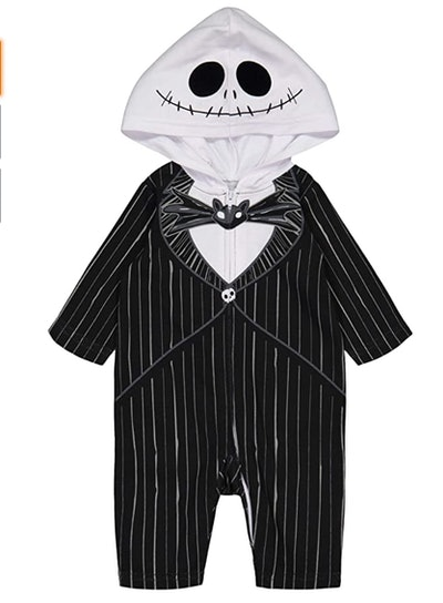 Nightmare Before Christmas Jack Skellington Boys Hooded Costume Coverall
