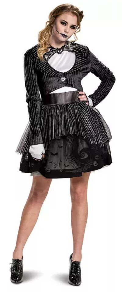 This adult Jack Skellington tutu dress is one Halloween costume choice for women.