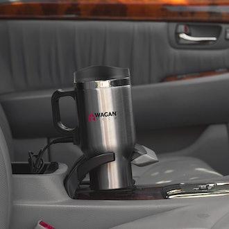 Wagan Heated Travel Mug with Anti-Spill Lid