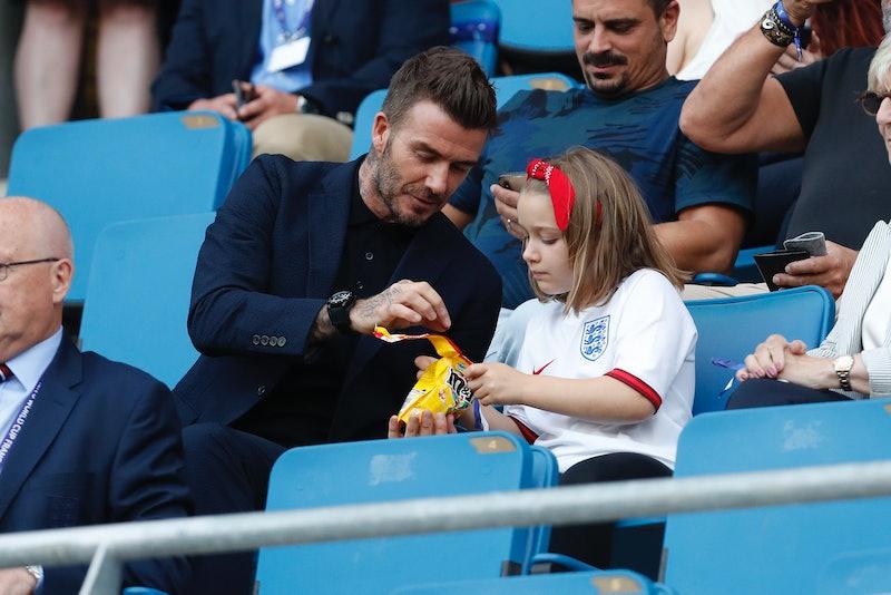 David Beckham & Harper Seven Beckham