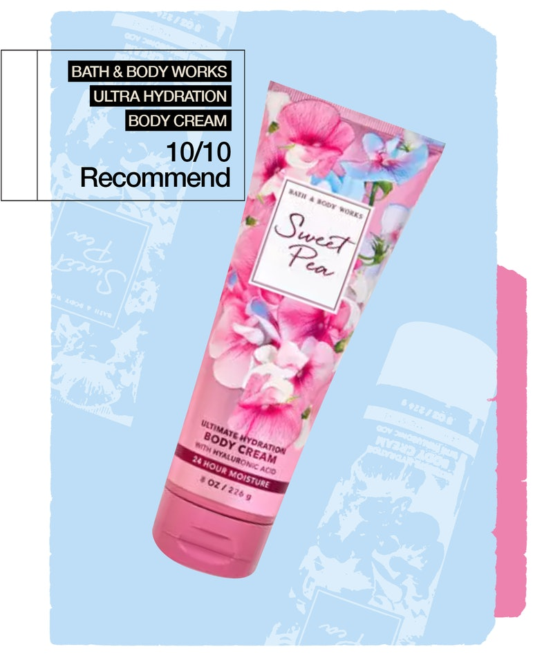Why I can't stop using the Bath & Body Works Sweet Pea Ultimate Hydration Body Cream.