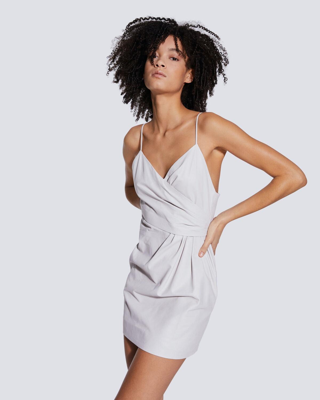 Zeta Thin Straps Leather Mini Dress Iro Paris