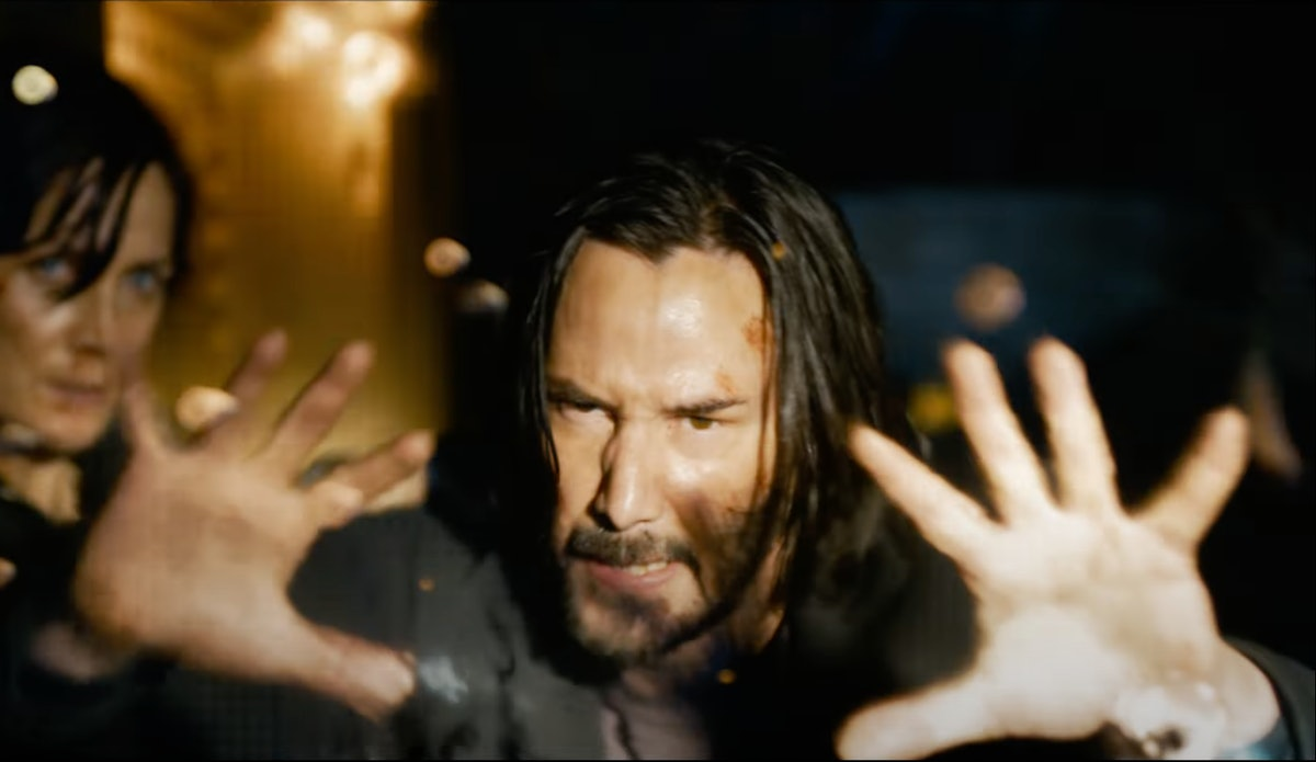 Keanu Reeves as Neo in The Matrix 4