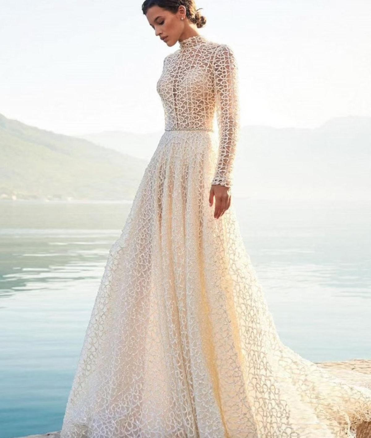 Etsy High-Neck Wedding Dress