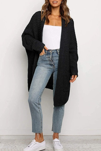 YIBOCK Long Chunky Knit Cardigan Sweater