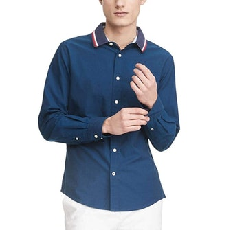 Tommy Hilfiger Long Sleeve Solid Oxford Button Down