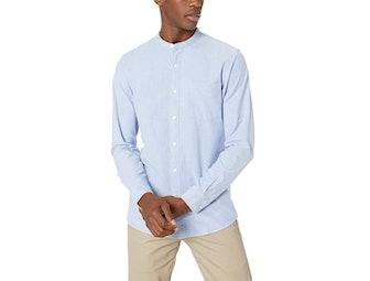 Goodthreads Band-Collar Oxford Shirt